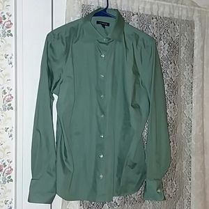 Land's End Pine Green Long sleeve size 12